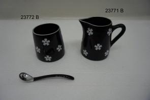 Milk Pot / Sugar Pot w/spoon